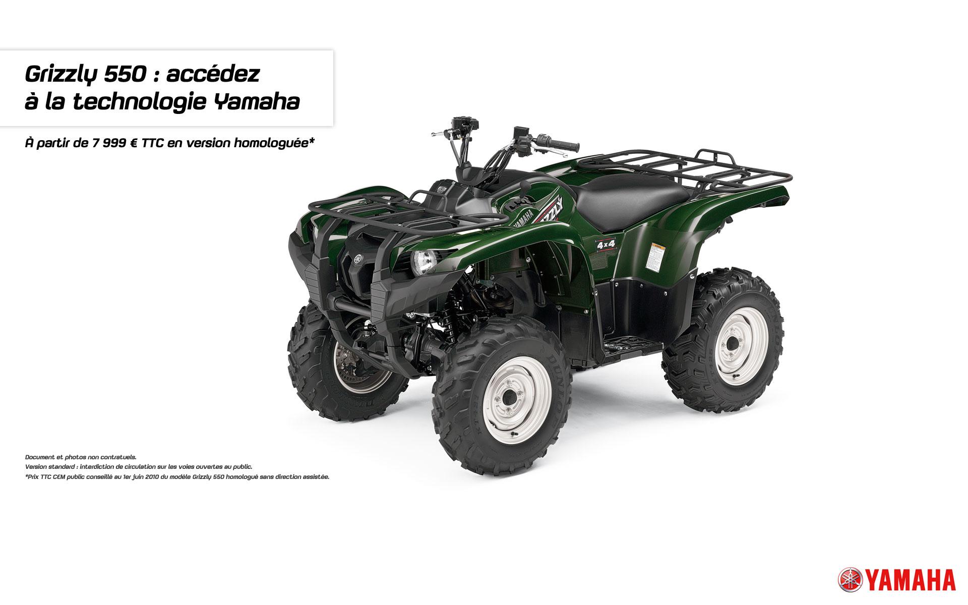 Avec le Grizzly 550, accédez à la technologie Yamaha