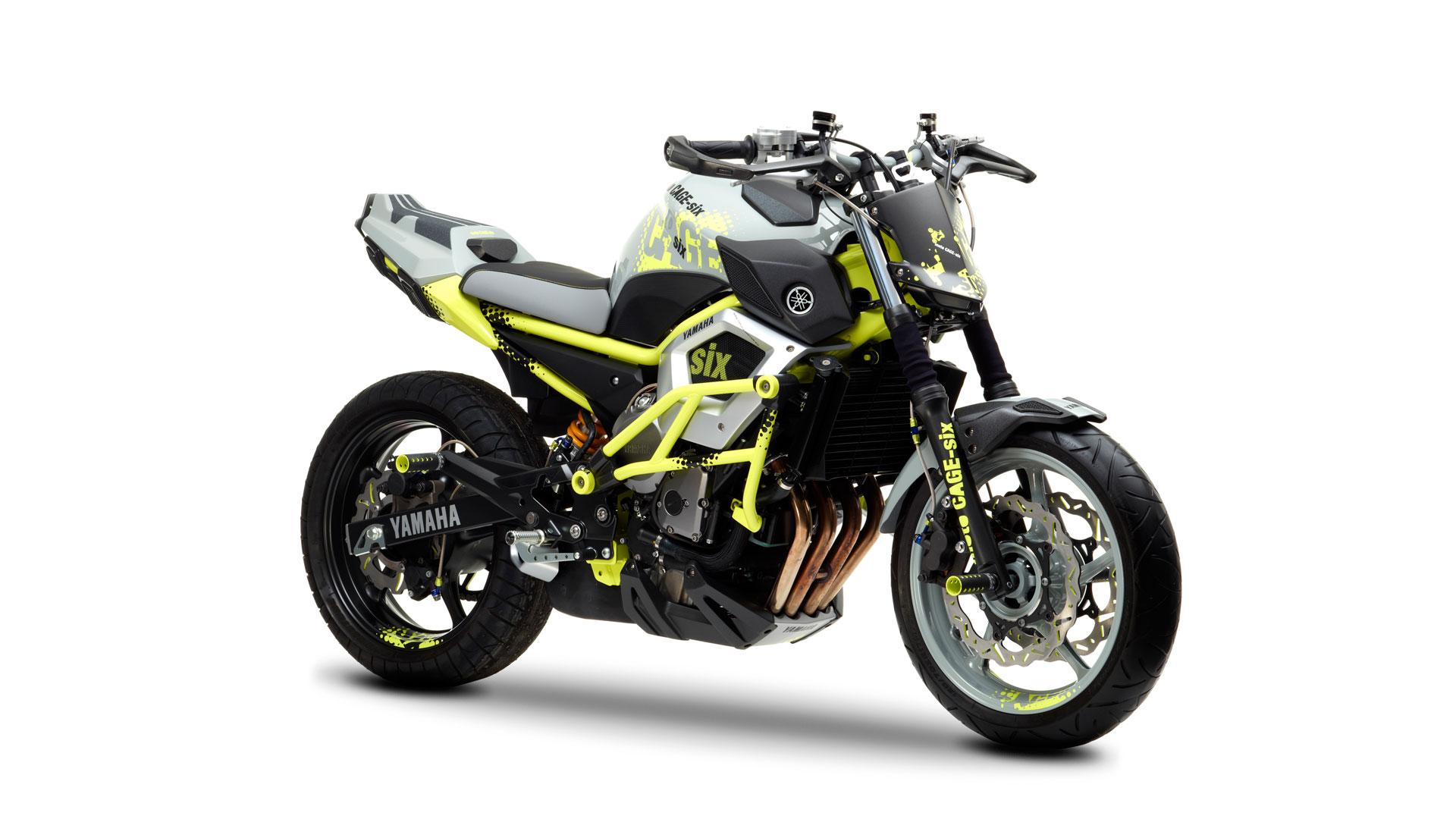 concept bikes yamaha pr sente deux concepts un tout nouveau trois cylindres et la cage six. Black Bedroom Furniture Sets. Home Design Ideas