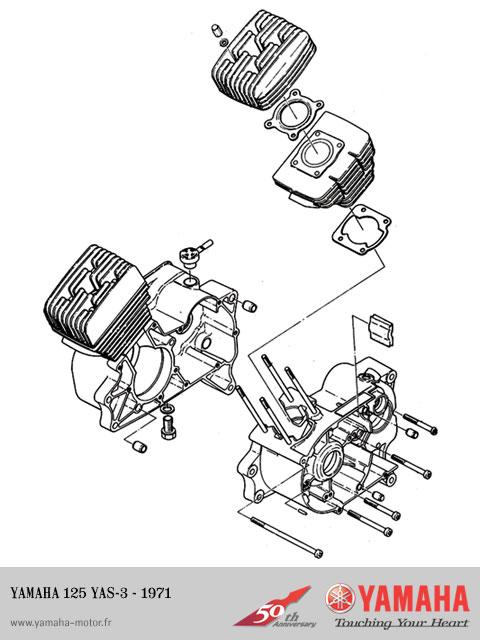schema moteur yamaha dt 50